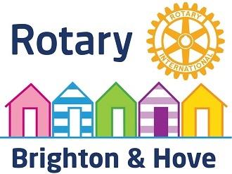 2021 Rotary logo with yellow wheel